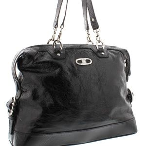93252c3366 Celine Bags - Celine Black Distressed Patent Leather Bag